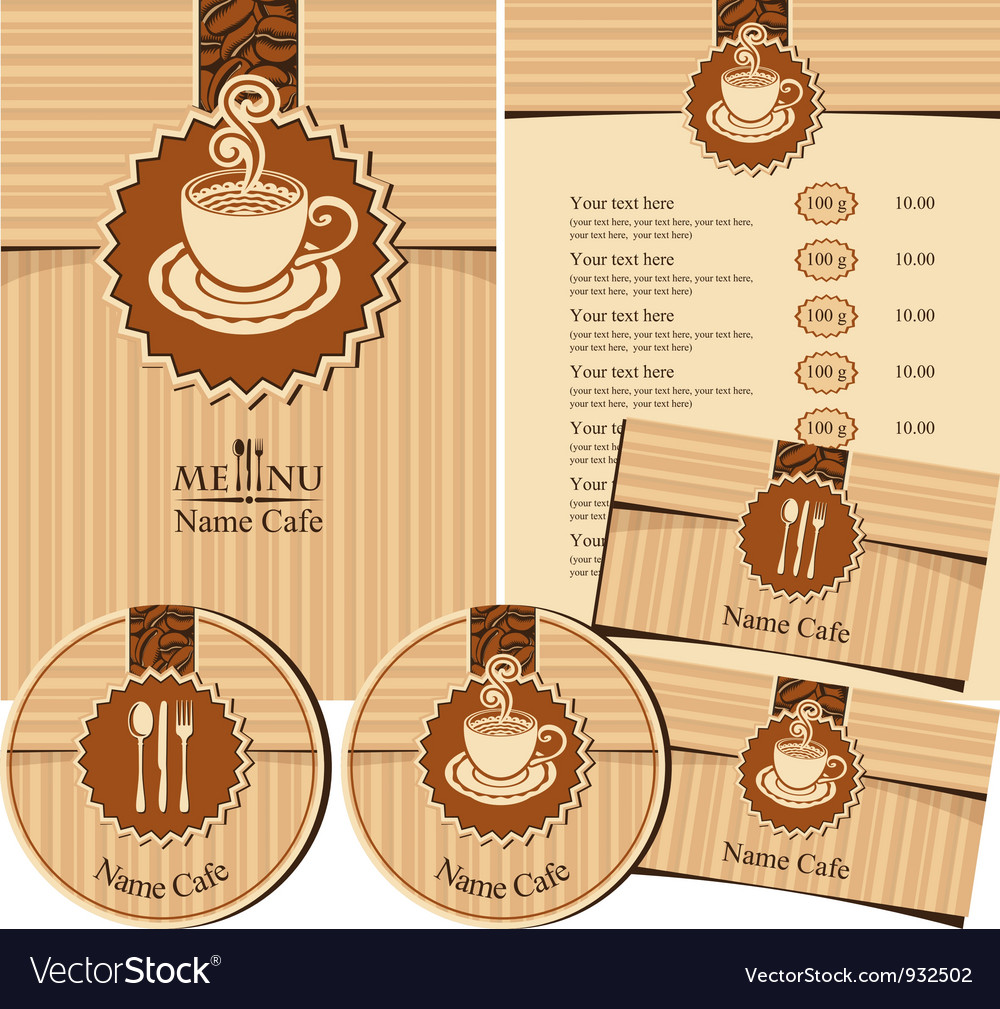Design elements for a cafe vector