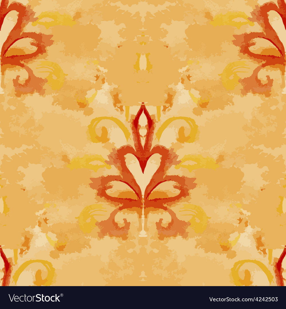 Seamless with vintage watercolor pattern vector