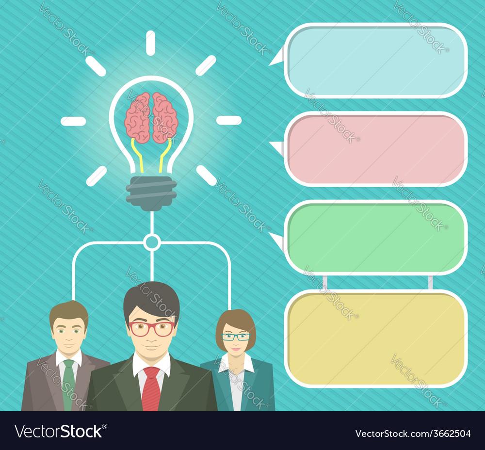 Business idea infographics elements vector