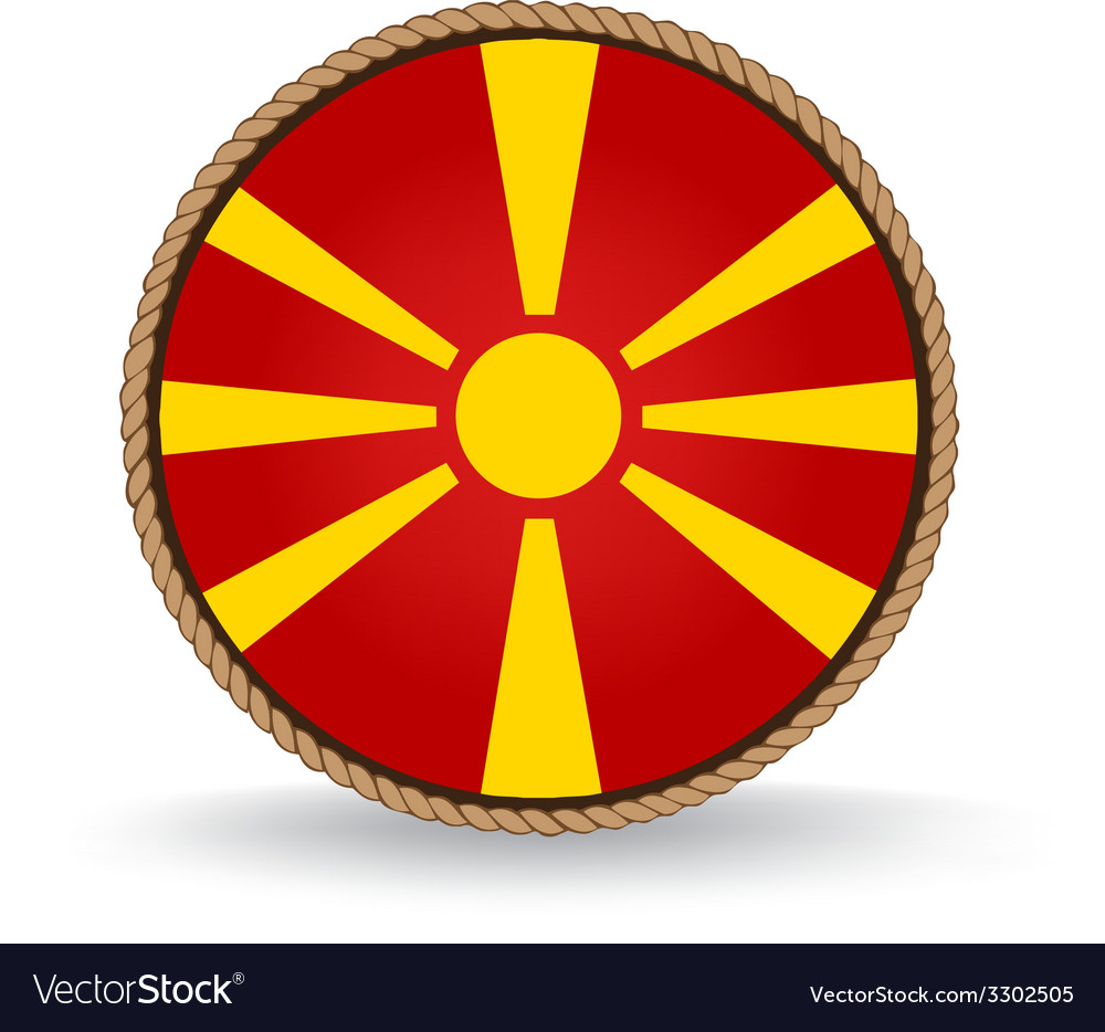 Macedonia seal vector