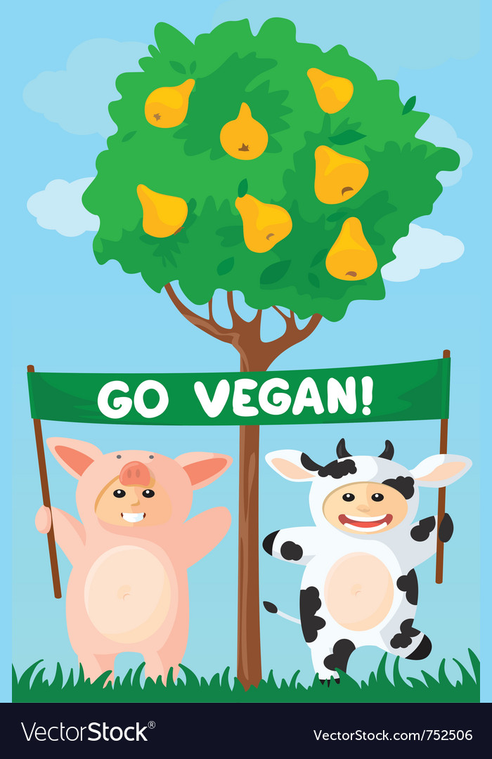 Cow and pig banner vector