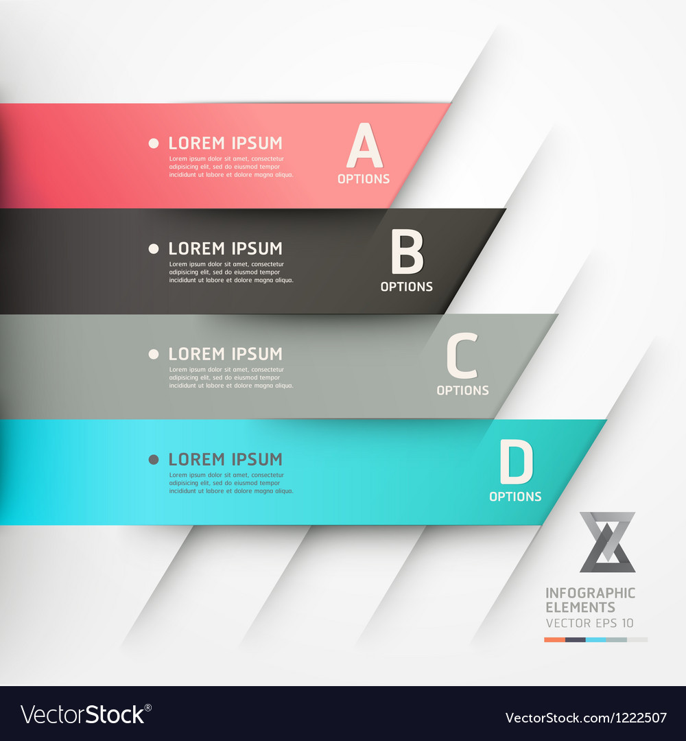 Abstract origami options banner vector