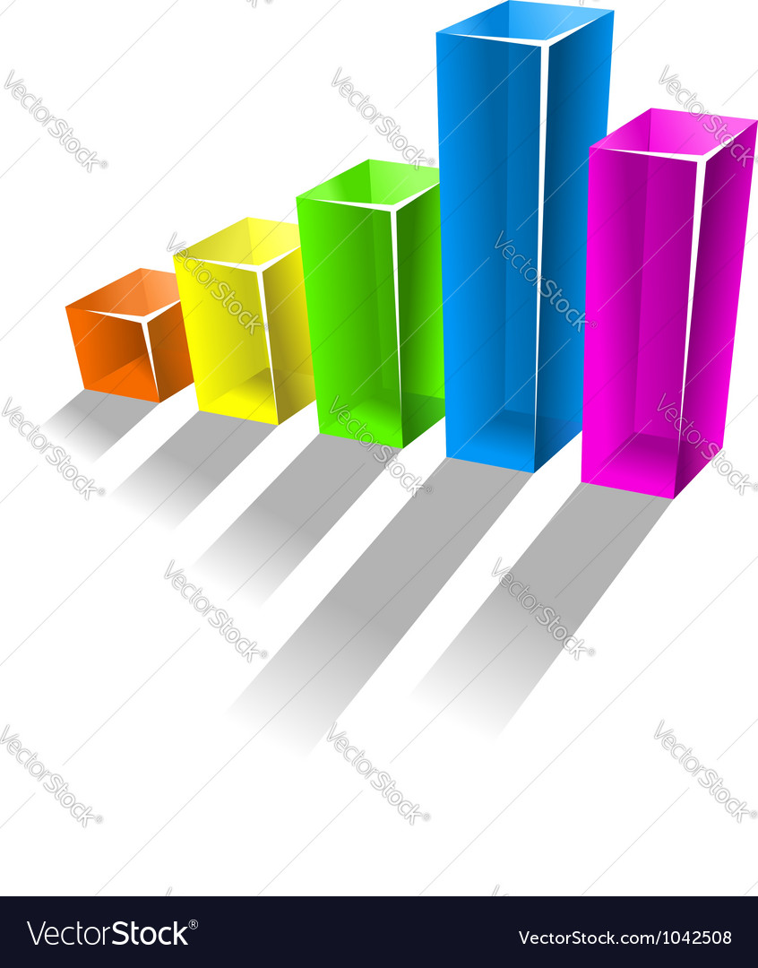 Glossy growing chart for business concept vector