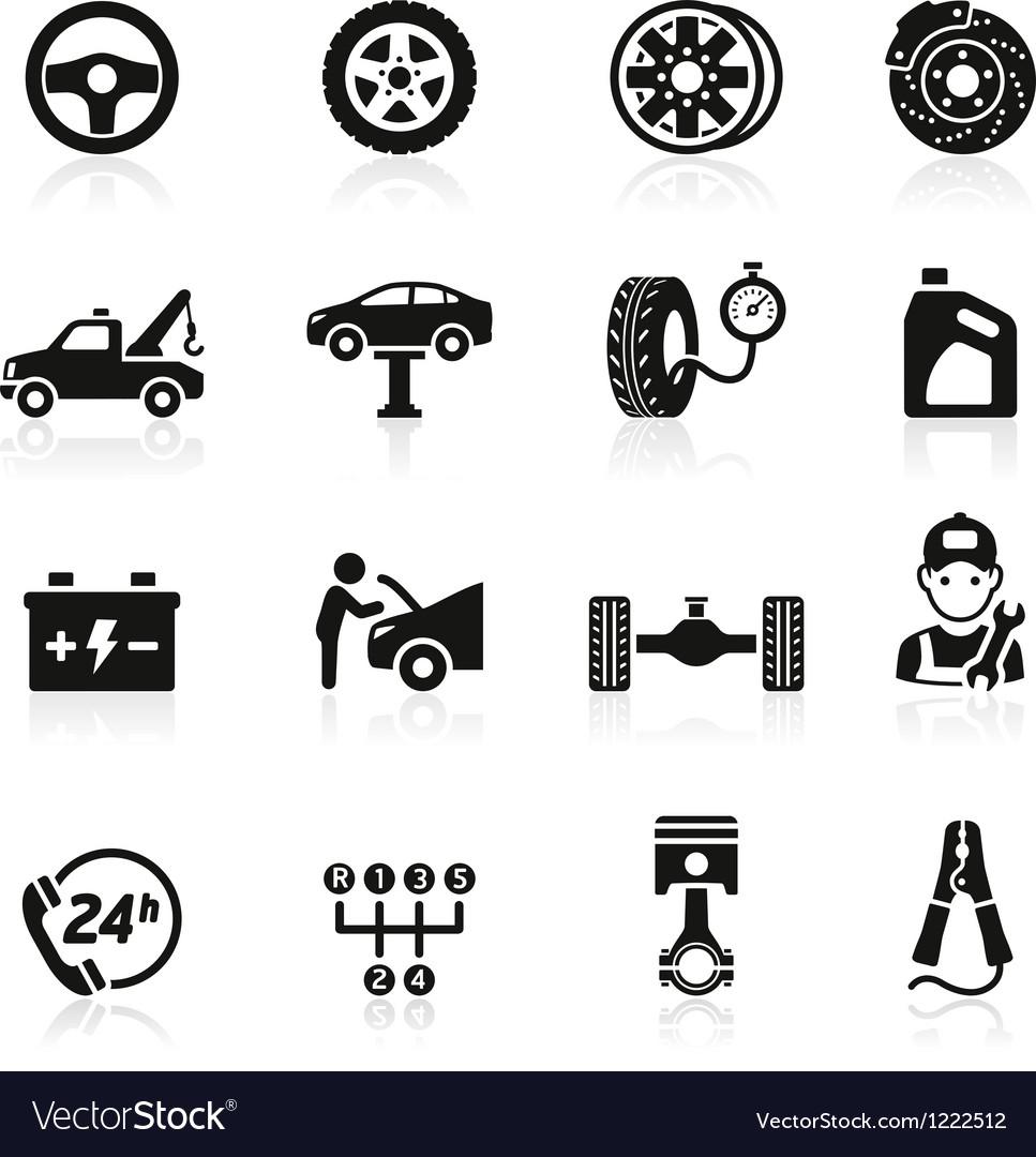 Car service maintenance icon vector