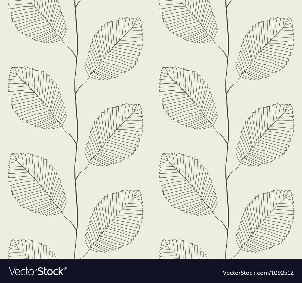 Seamless pattern from leaves vector
