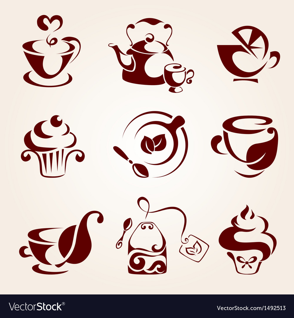 Tea elements set vector