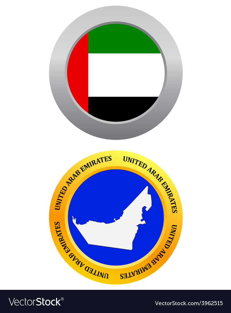 Button as a symbol united arab emirates vector