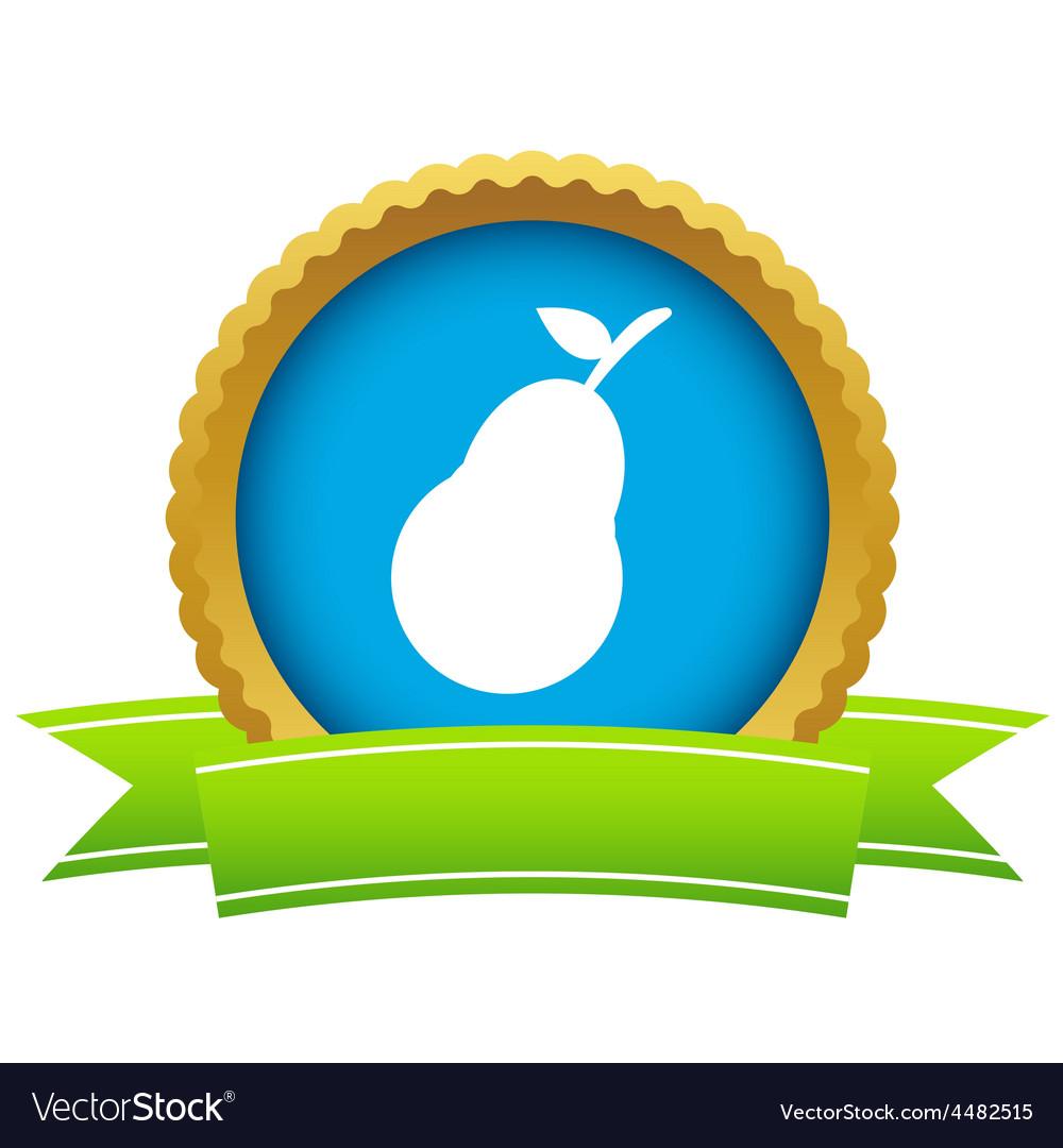 Gold pear logo vector