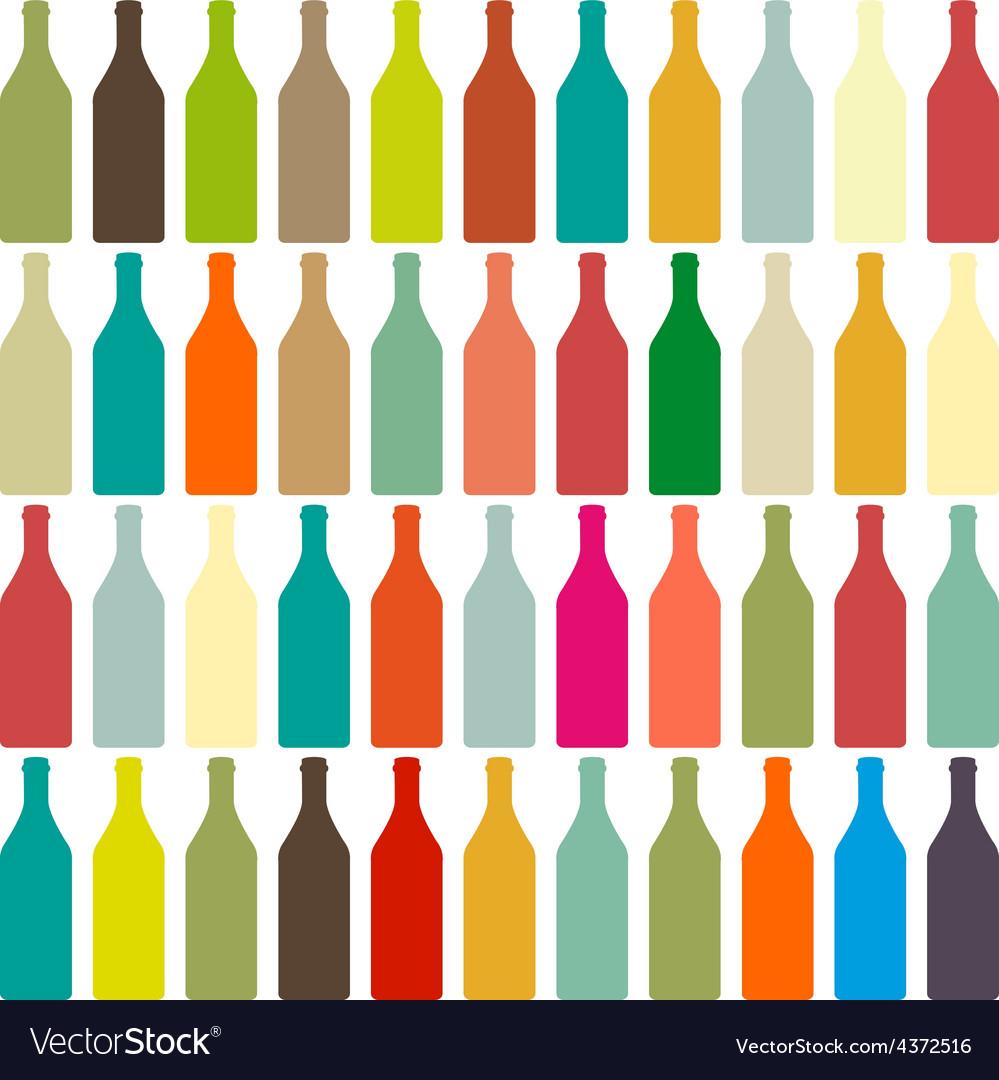 Background bottles vector
