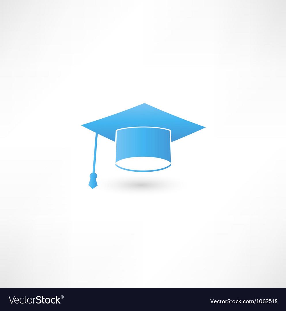Graduation cap vector