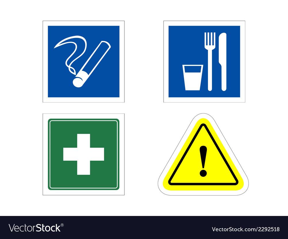 Information signs vector