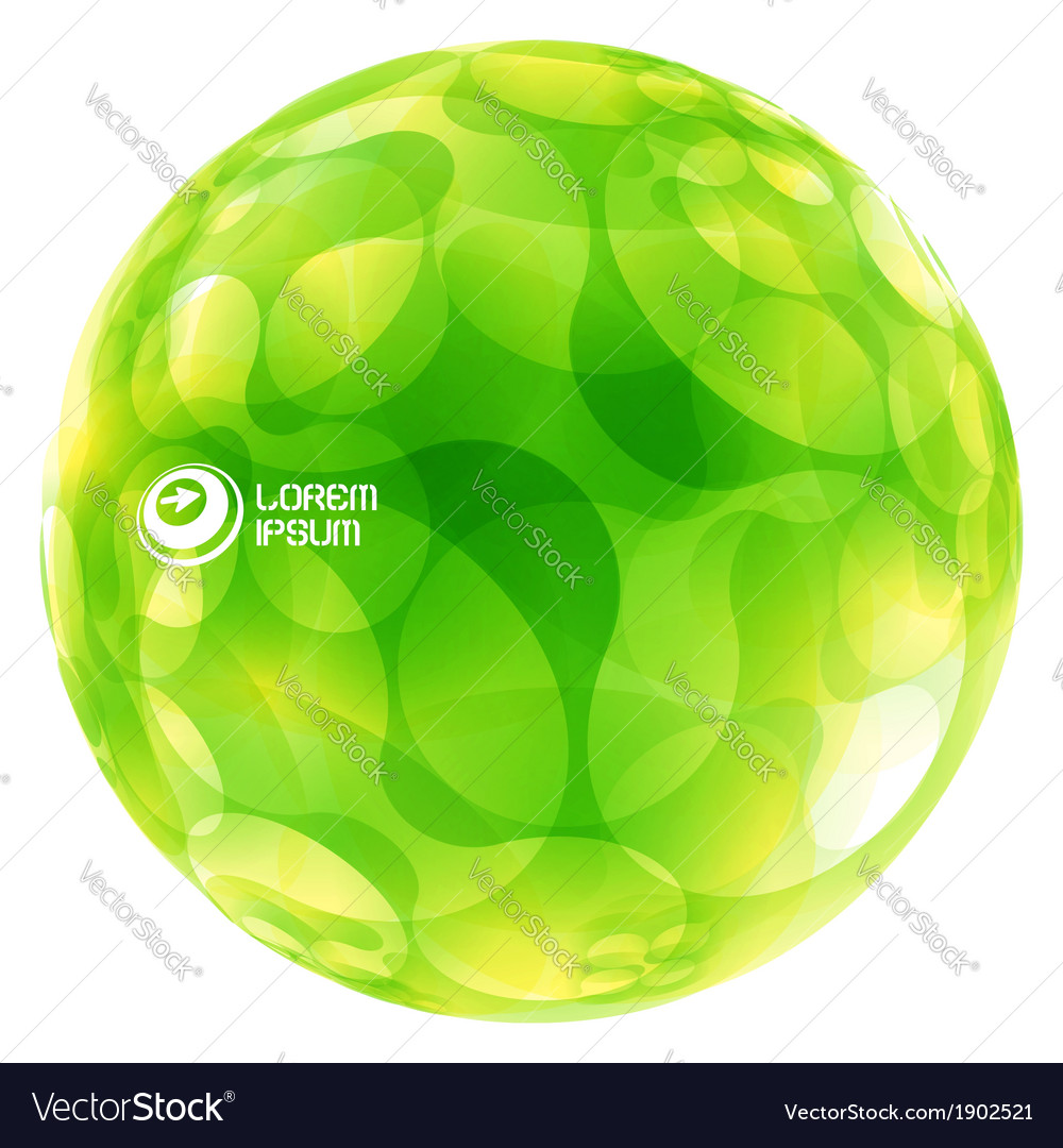Abstract green globe vector