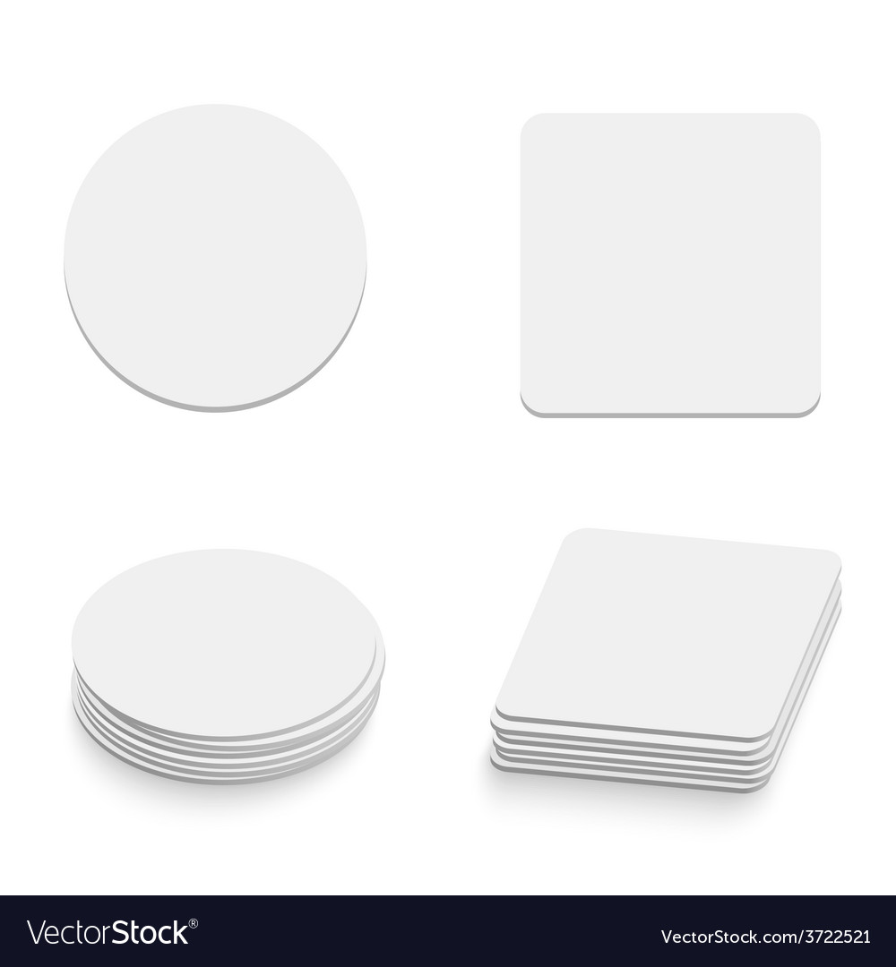 Table coasters vector
