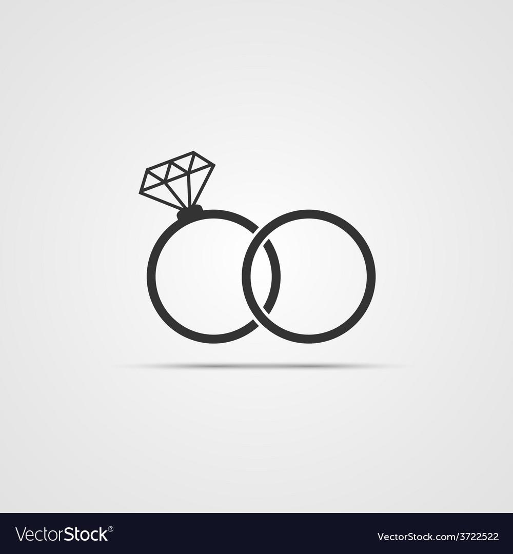 Wedding ring icon vector