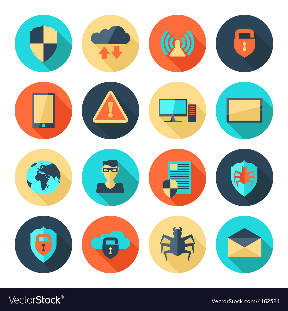 Network security icons vector