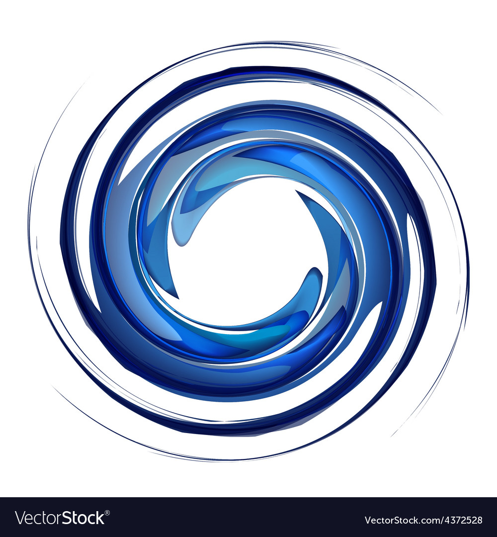 Isolated water vortex vector