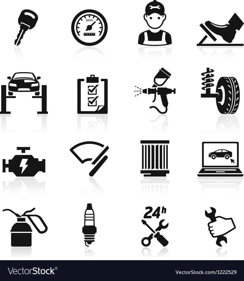 Car service maintenance icon vector