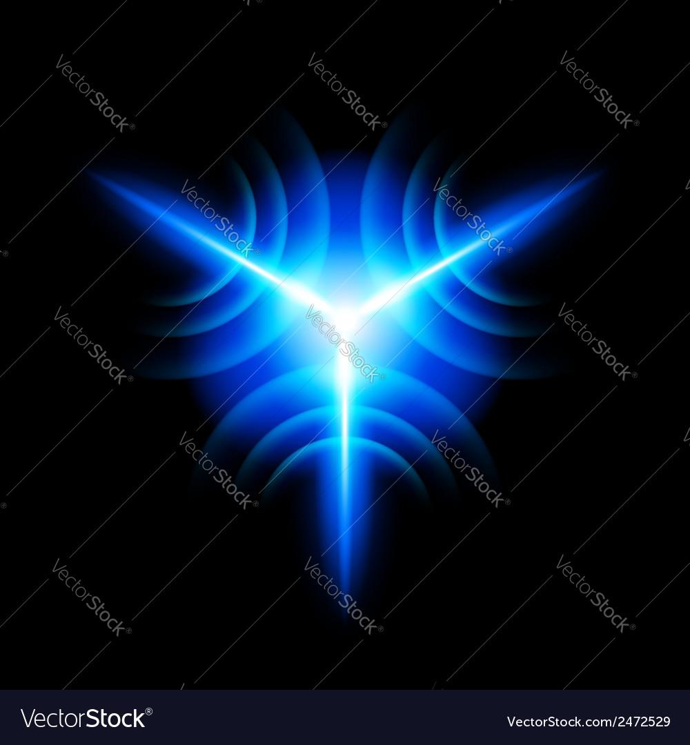 Digital star vector