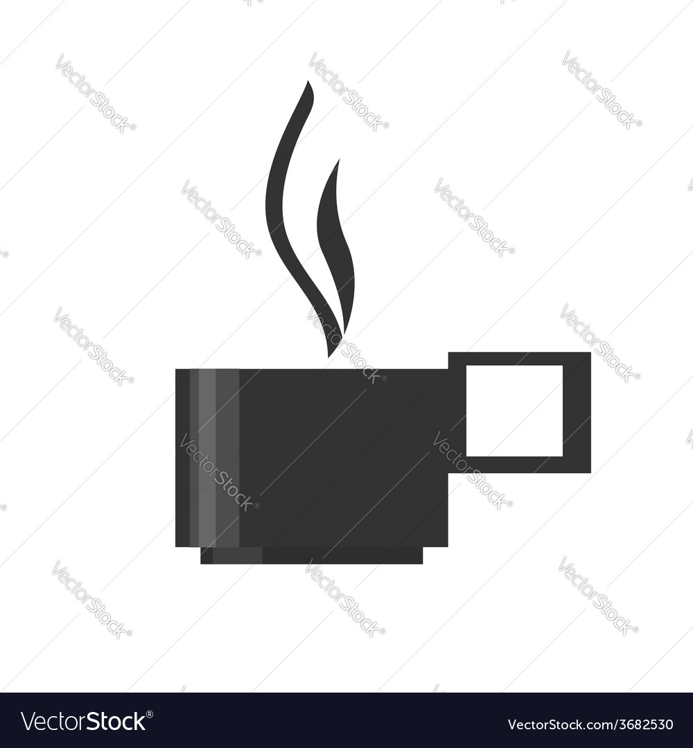 The cup with a hot drink vector