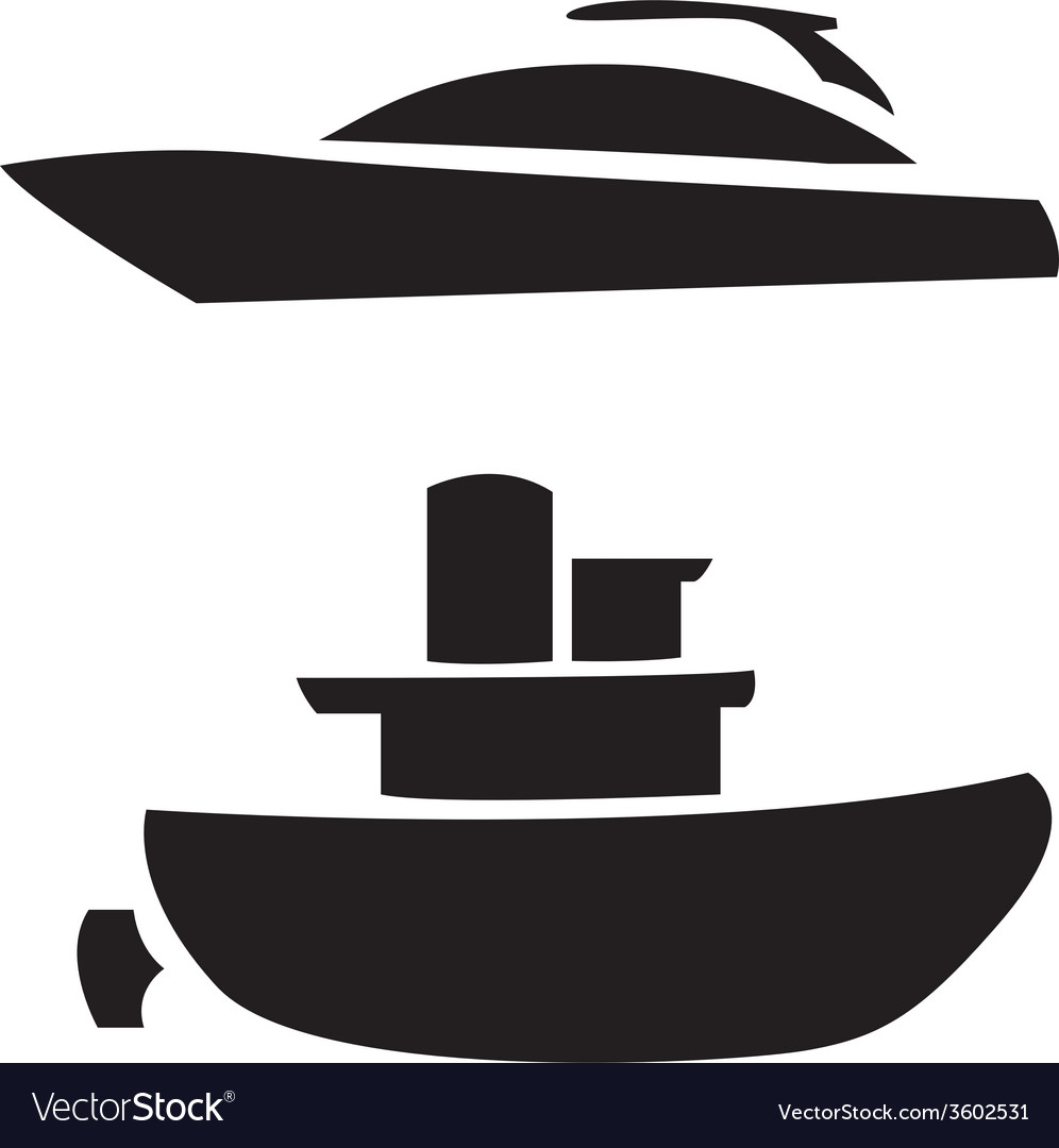 Boat silhouettes vector