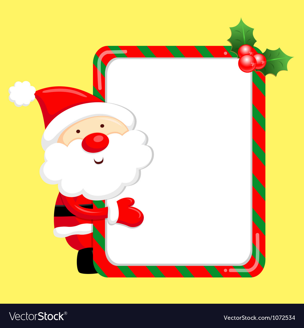 Santa claus mascot the event activity christmas c vector