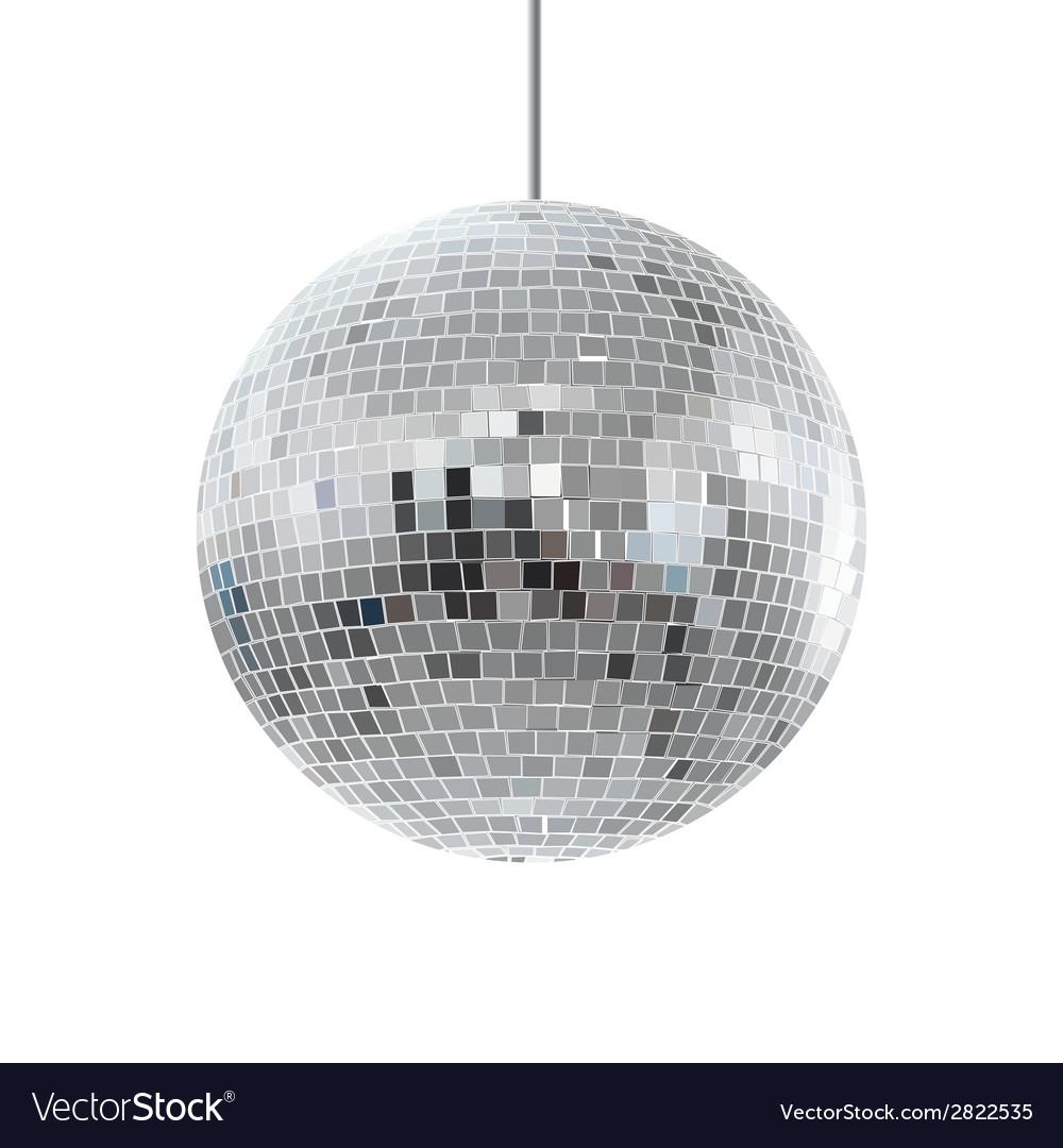 Disco shiny ball vector