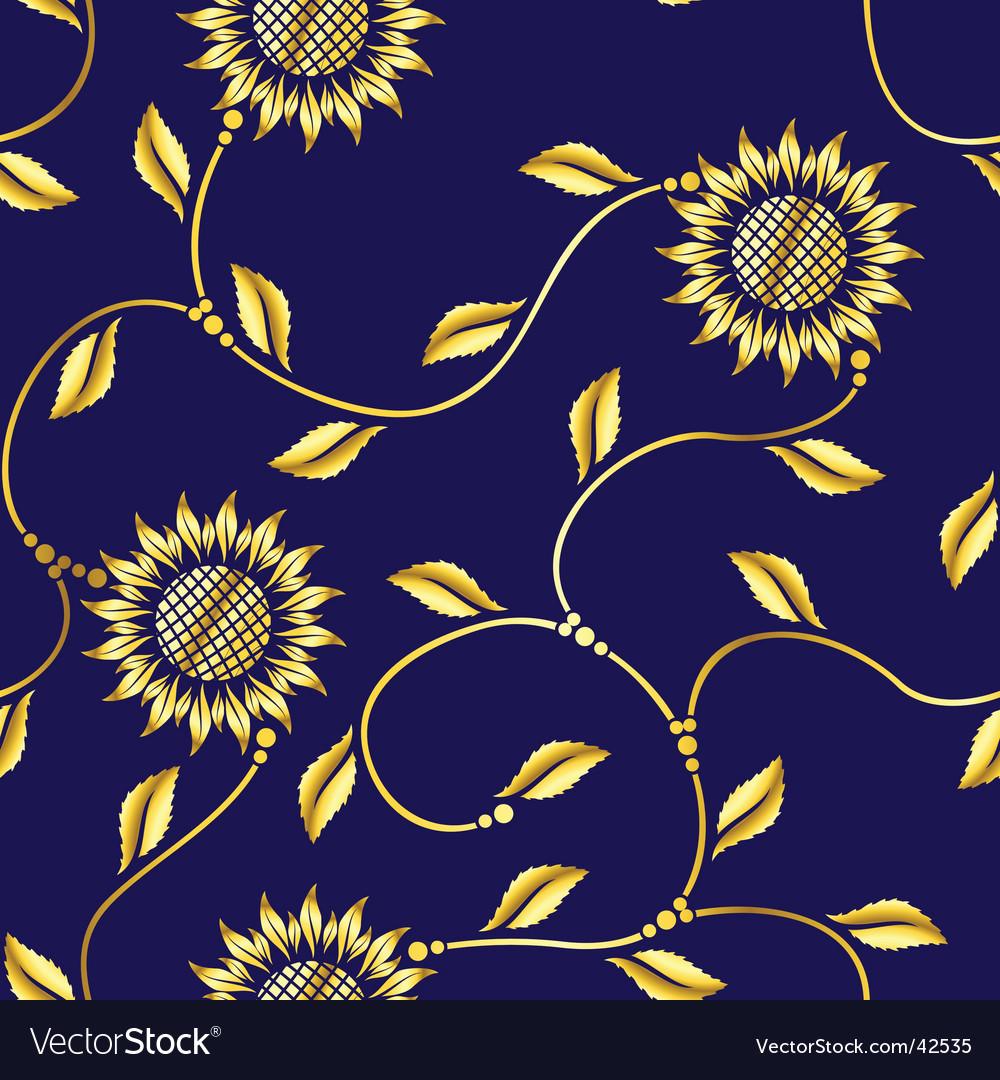 Seamless sunflower vector