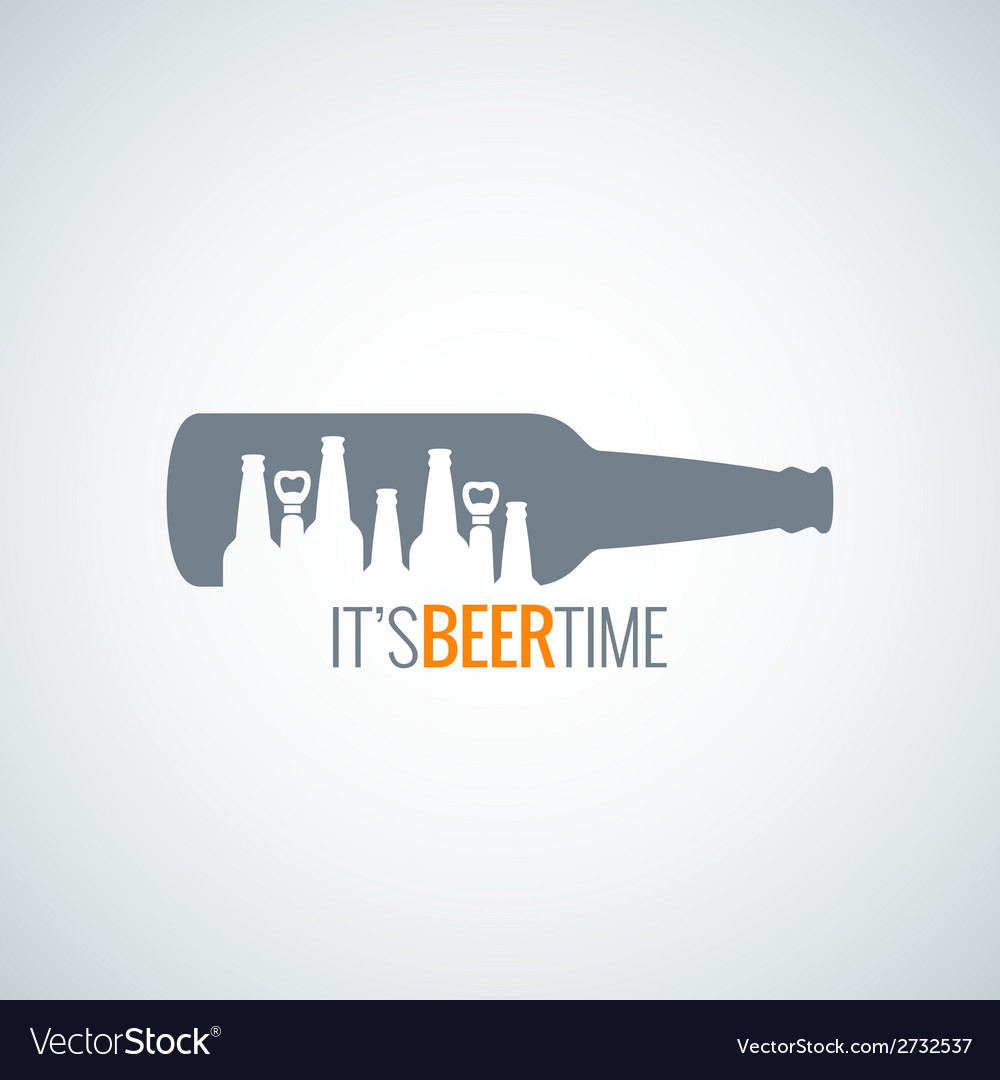 Beer bottle city concept design background vector