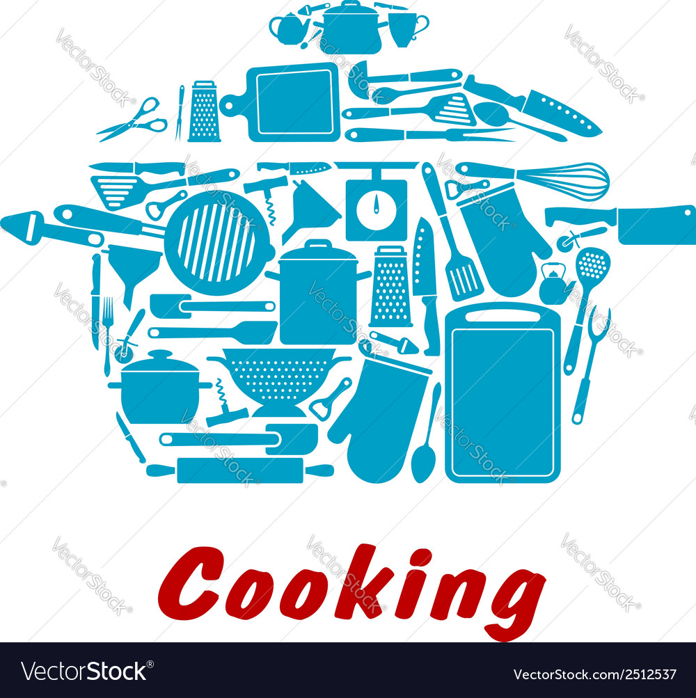 Cooking icon with kitchen utensil vector