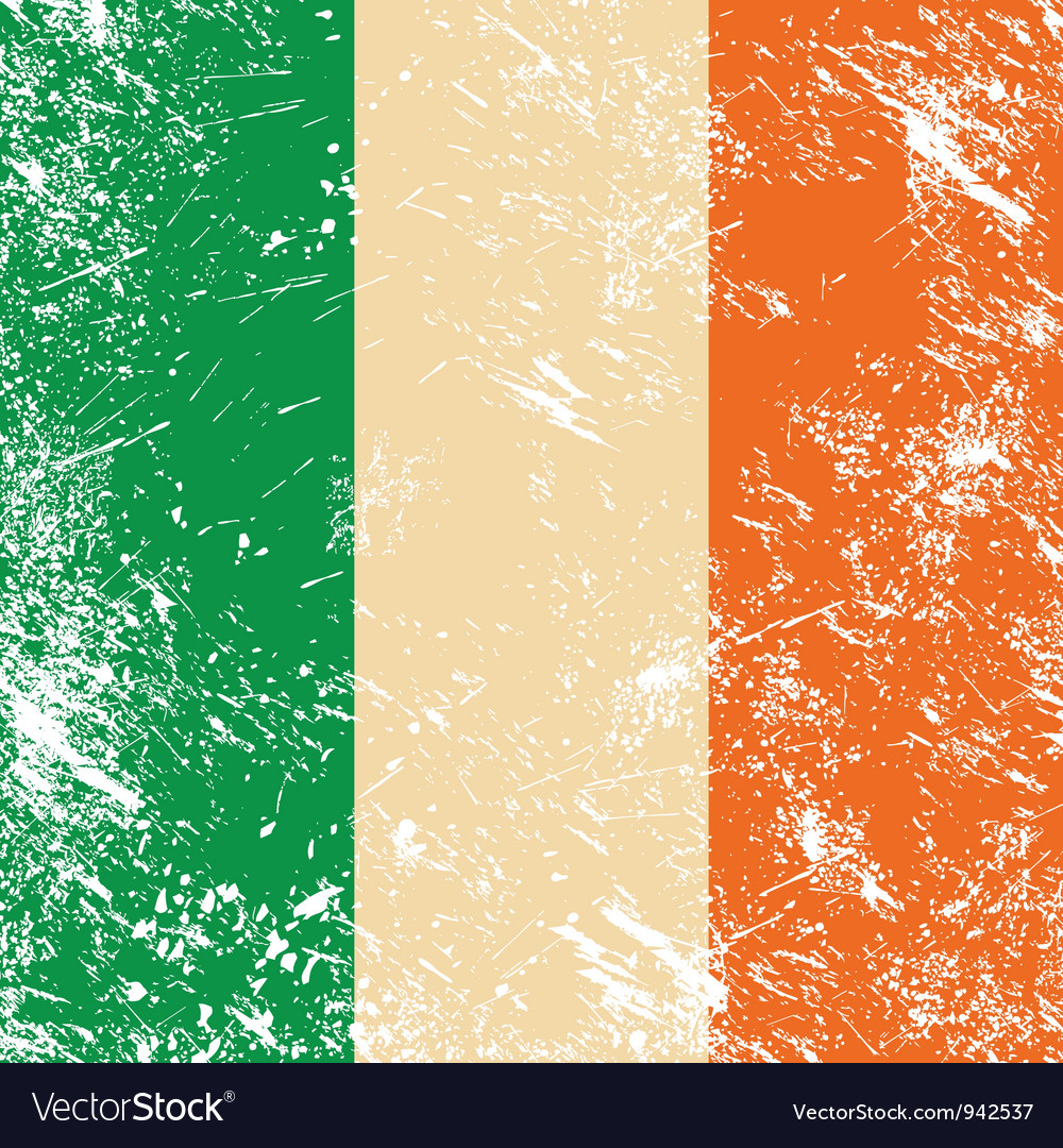 Ireland retro flag vector
