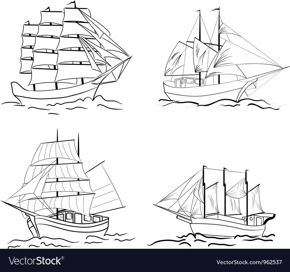 Sailing set vector