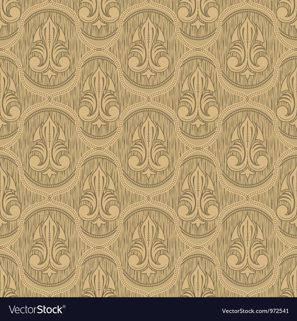 Beige colour old style seamless background vector