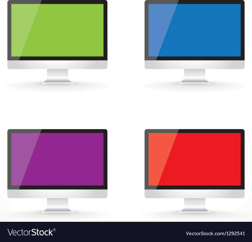 Display lcd screens vector