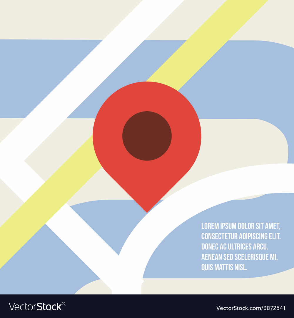 Map pointer icon flat design vector