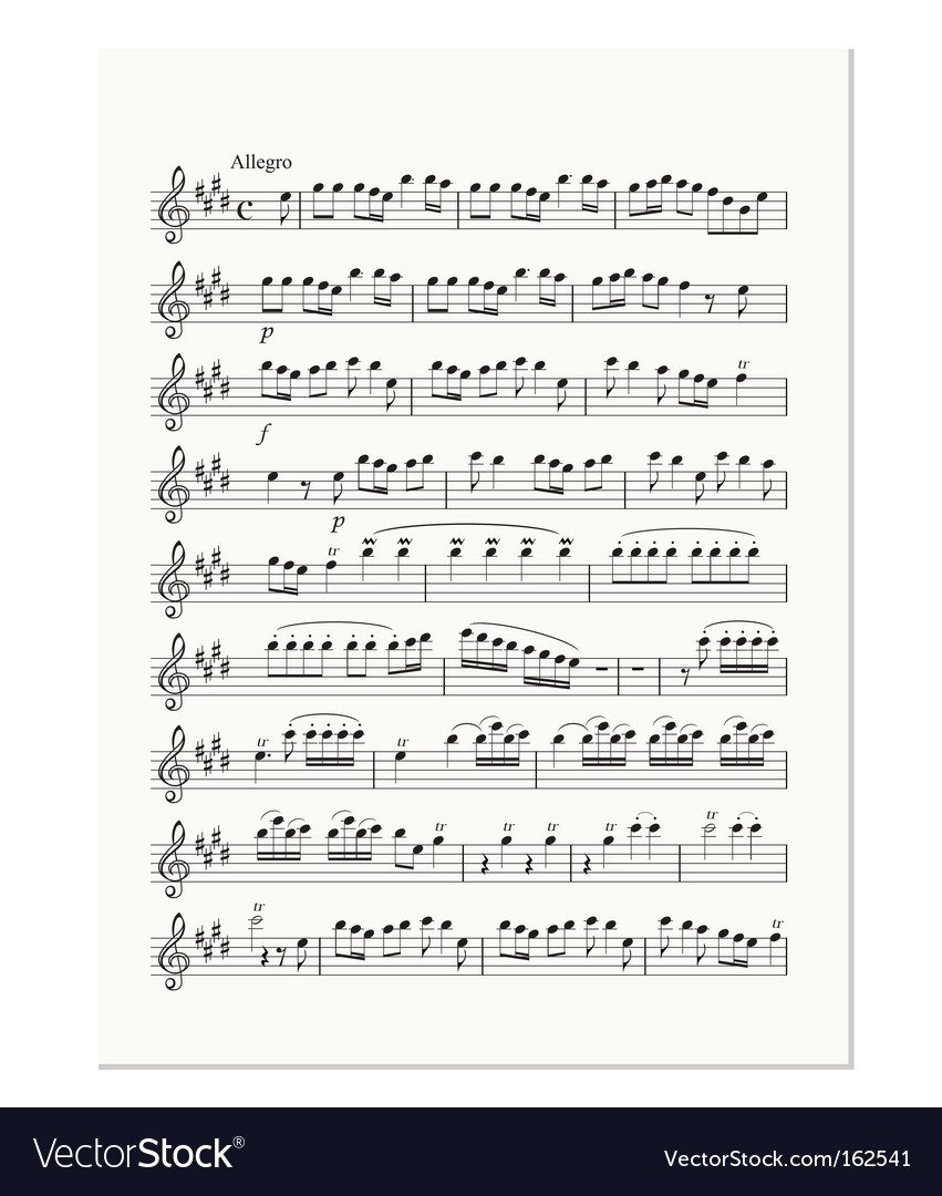 Sheet of notes vector