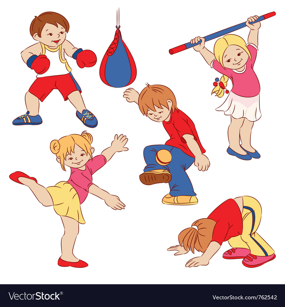 Cartoon small children vector