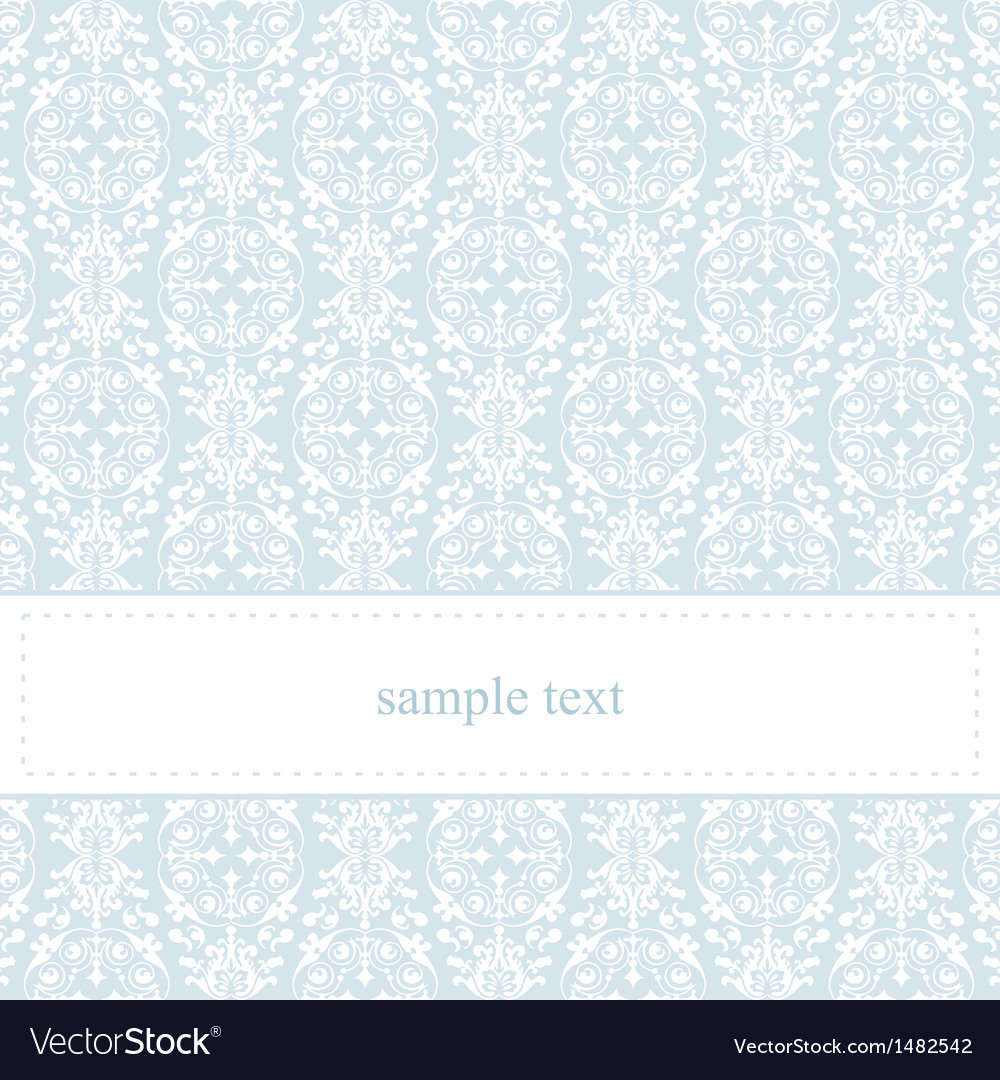 Classic lace card or wedding invitation vector