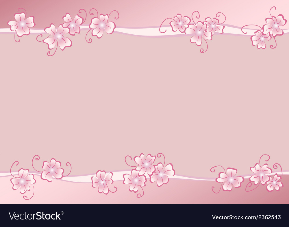 Pink flowers copy vector