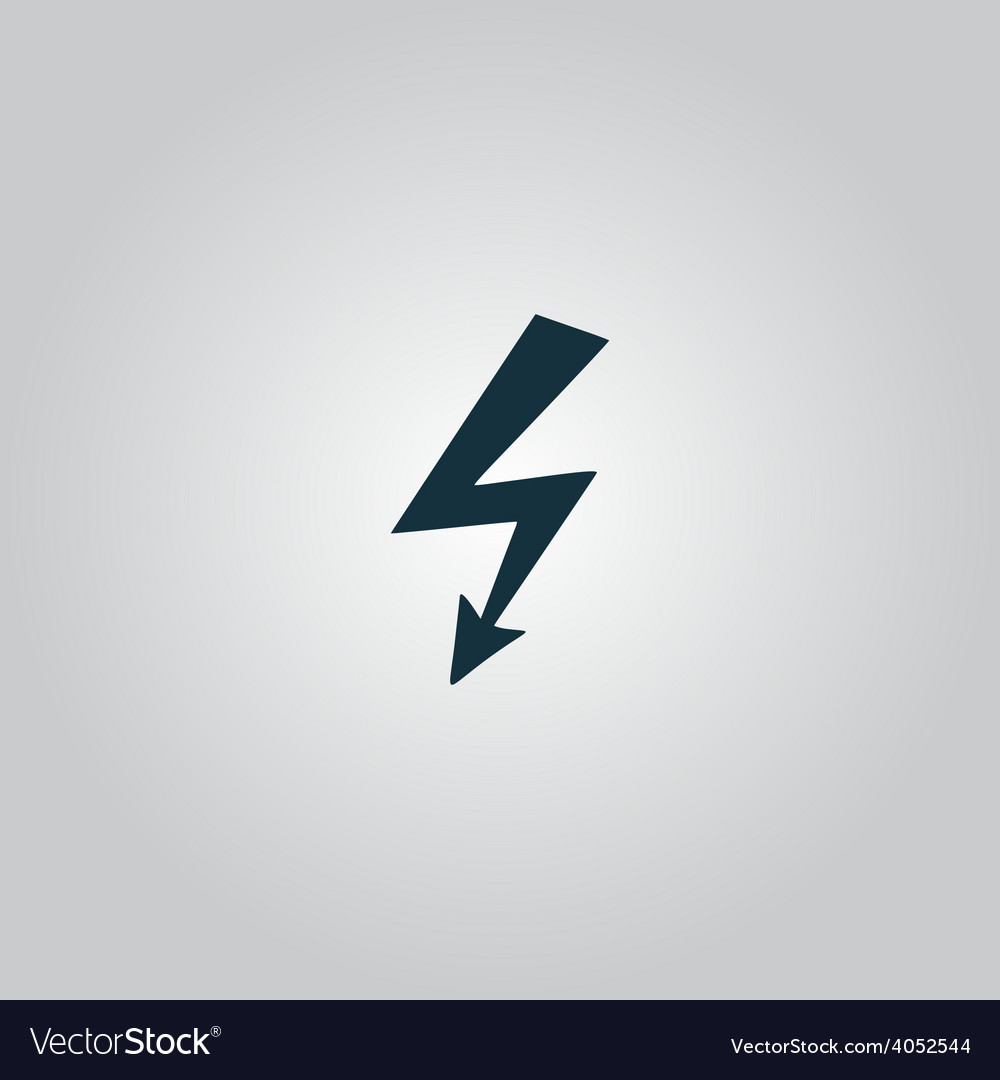 Bolt icon vector
