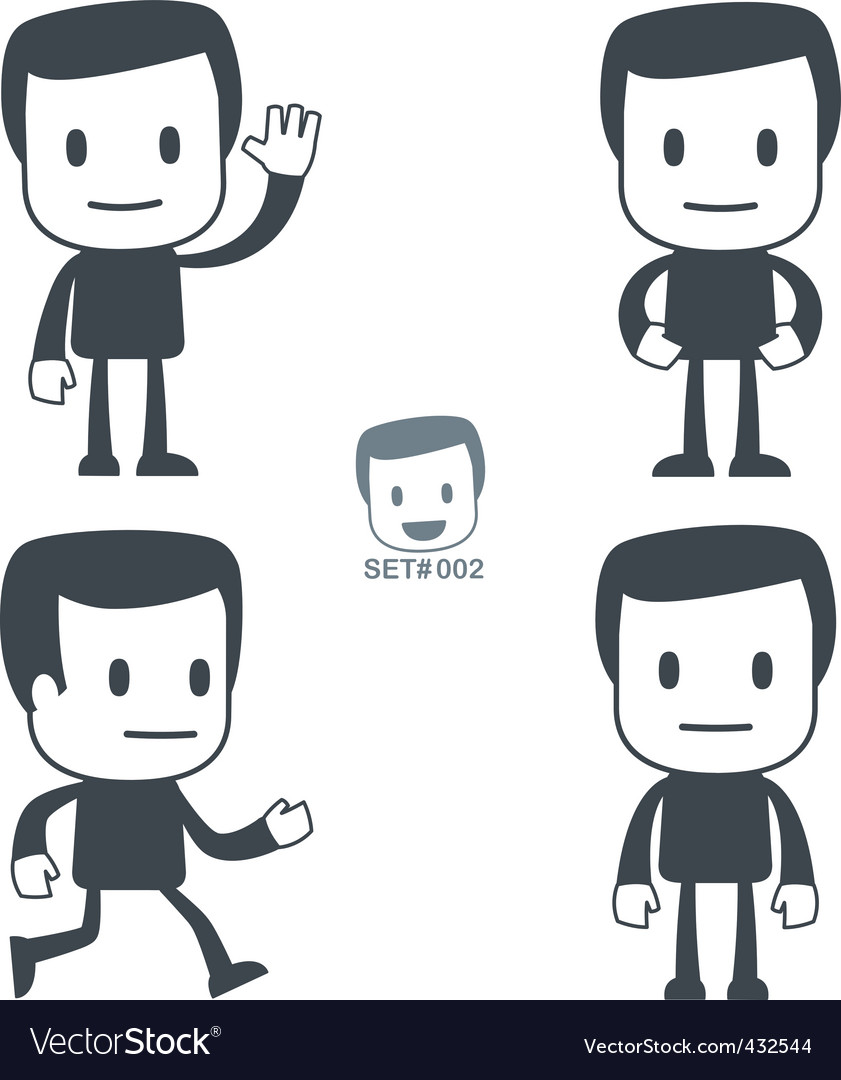 Greeting icon man vector