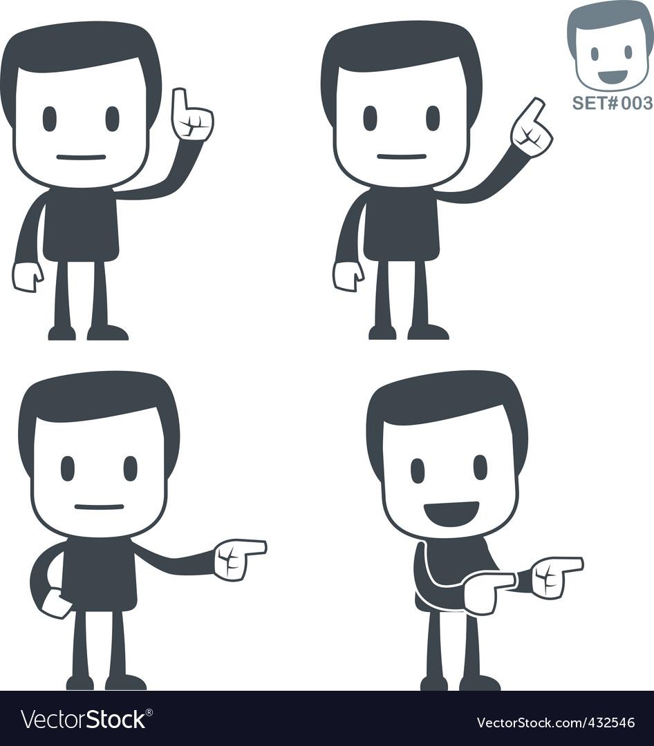 Direction icon man vector