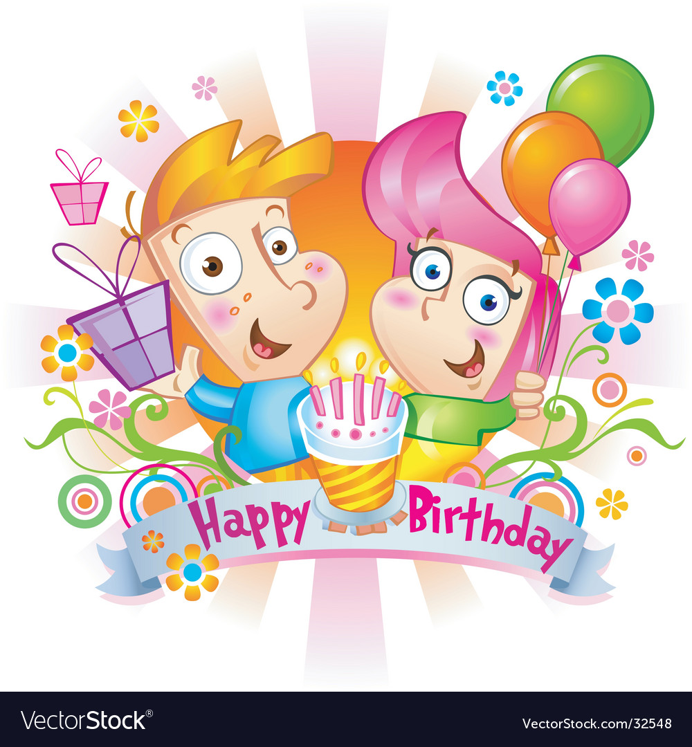 Birthday congratulations vector