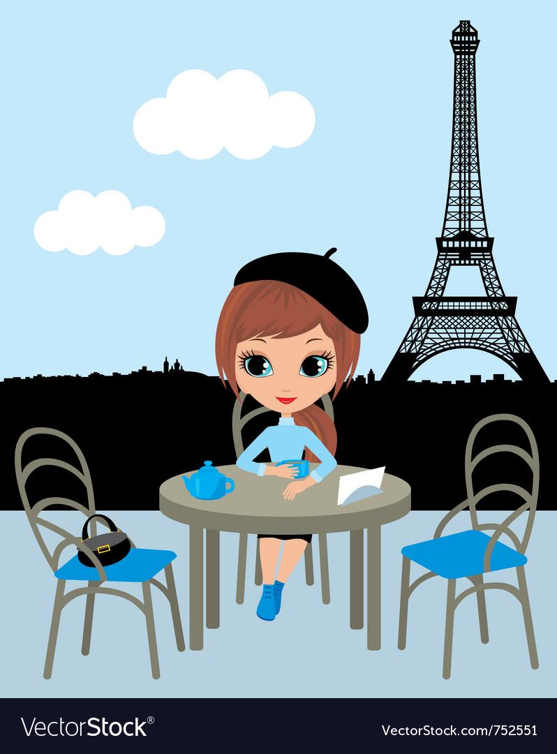 Parisian cafe vector