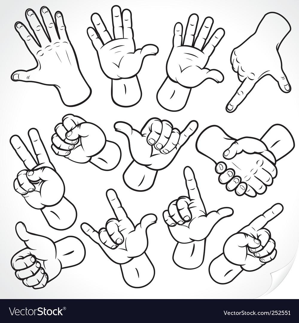 Sketching hands vector