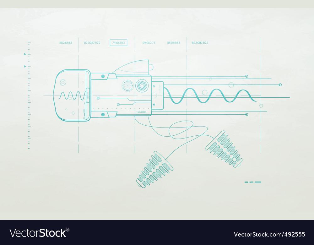 Drawing mechanism on a dark vector