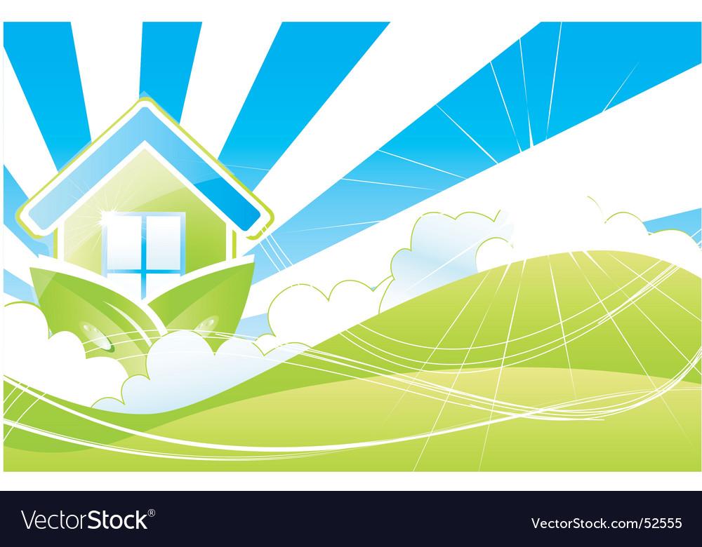 House land vector