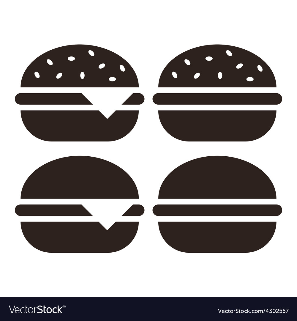 Hamburger icon set vector