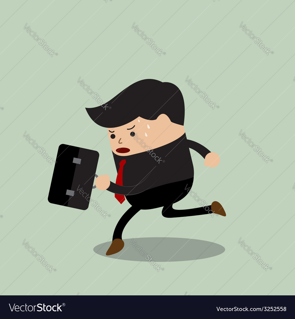 Businessman in a rush hour vector