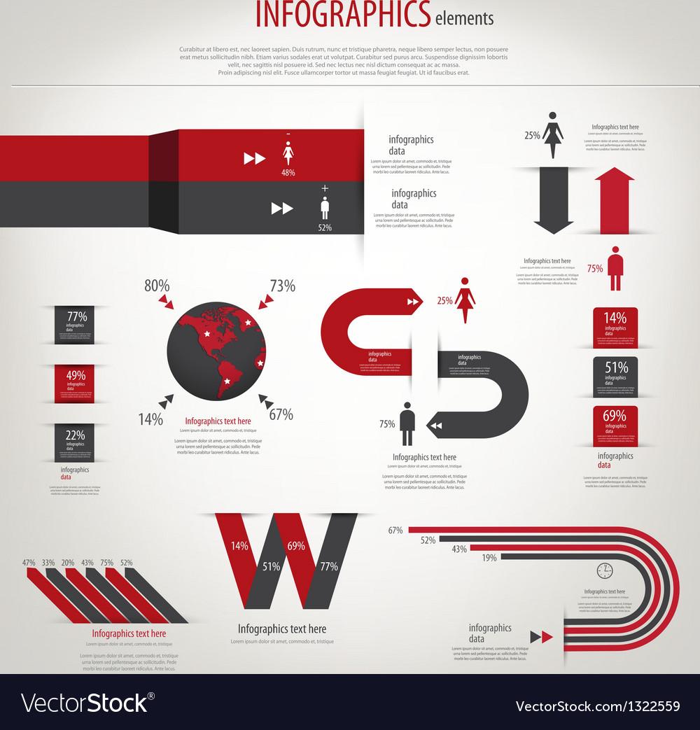 Retro infographics vector