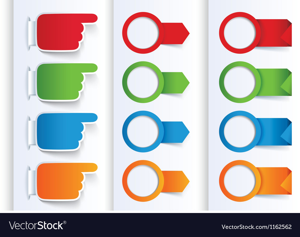 Set of colorful arrows and design banners vector